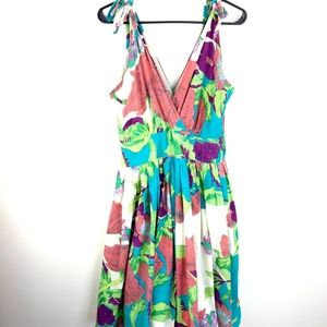 Anthropologie Aryeh Floral dress Size M fit flare